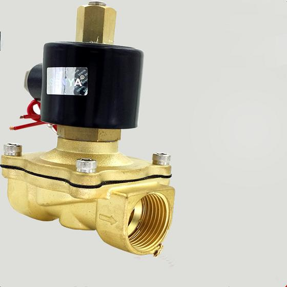2 way brass Electric Solenoid Valve 1-1/4 1-1/2 2 AC220V DC12V DC24V normally open Solenoid Valve 5 2 way airtac solenoid valve 4v series 4v330c 08 1 4 close centerr dc24v ac220v