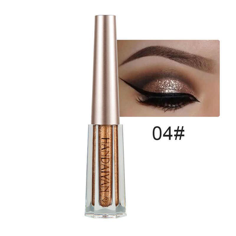 Handaiyan 2018 Baru Berlian Glitter Liquid Eyeshadow Makeup Tahan Air Tahan Lama Shimmer Metallic Eyeshadow Liner Kombinasi