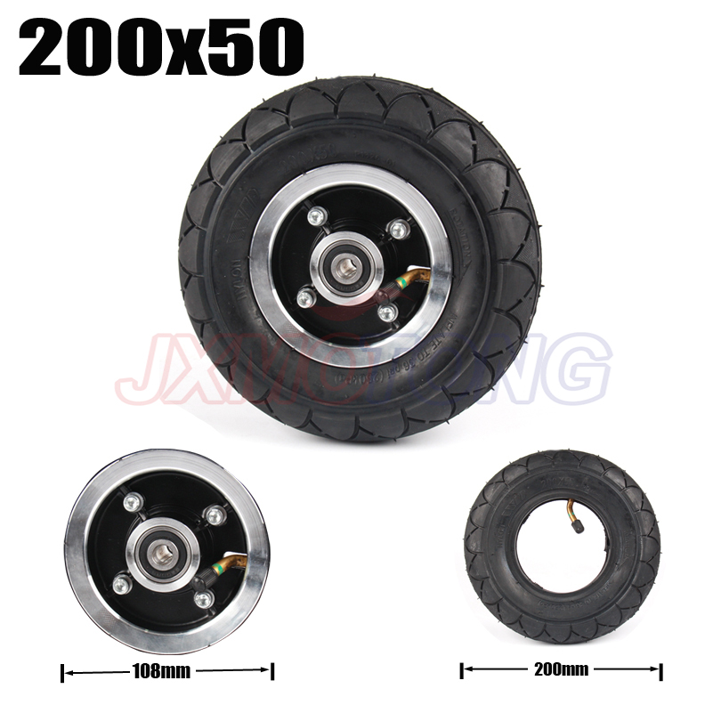 200x50 Electric Scooter Tyre With Wheel Hub 8 Scooter Tyre Inflation Electric Vehicle Aluminium Alloy Wheel Pneumatic Tire