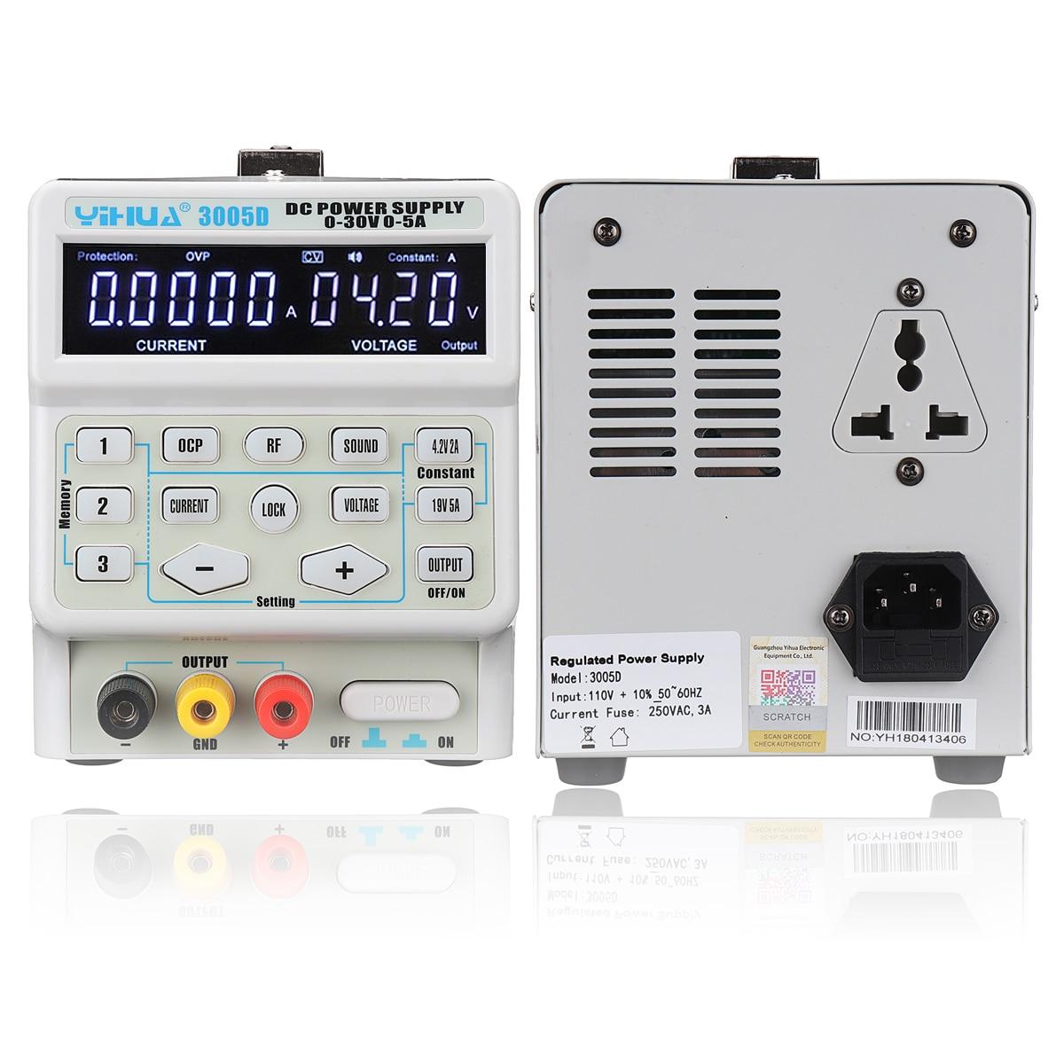 1 Pcs 30 V 5A Regolabile Digitale DC Interruttore di Alimentazione Professionale 110 V/220 V Variabile Dual Digital DC di Alimentazione