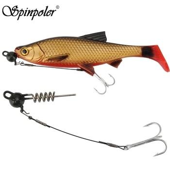 Spinpoler Carp Bass Fishing Rig Fishhooks Barbed Hooks Kit Lead Head Jigging Bait Fishing Hooks Size #6 #4 #2 #1 #1/0 #2/0