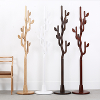 New Fashion creative clothes hat rack 100% wood tree leaf coat rack Luxury living room furniture decoration storage wood hook