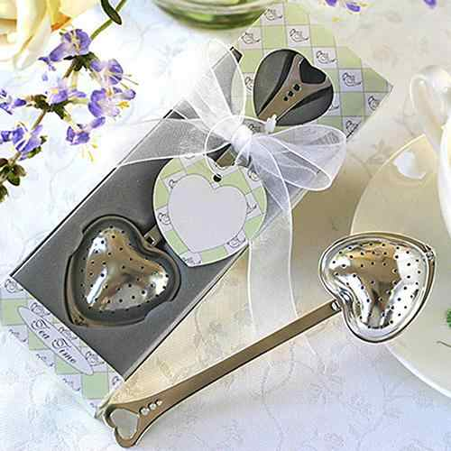 Heart Design Spoon Tea Infuser Filter Wedding Souvenir Bridal Shower Favor Gift!
