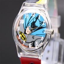 Lovely Marvel Hero Batman Analog Snap On Silicone Sports Quartz Wrist Plastic Watch Bracelets Clock Woman Unique Dial Design Hot