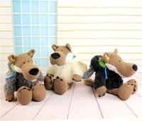 NICI Plush Toy Stuffed Doll Cute Soft Wolf Brother Dress Up Sheep Cloth Bedtime Story Kid