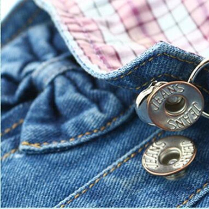 Meisjesjeans Denim overall shorts voor vrouwelijke studenten kind - Kinderkleding - Foto 5