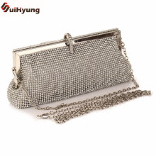 Free Shipping Women's Evening Bags Luxury Full Diamond Clutch Rhinestone Wedding Party Handbag Chain Shoulder Messenger Bag