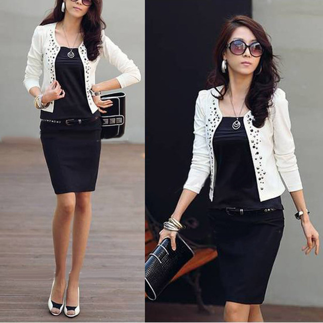 2017 Super Fashion Cool Women Ladies Long Sleeve Shrug Suits small ...
