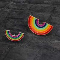 Mode Heißer Verkauf Broschen und pins Regenbogen pin Abzeichen Revers pin Regenbogen schmuck Broschen für frauen Brosche schmuck Geschenk