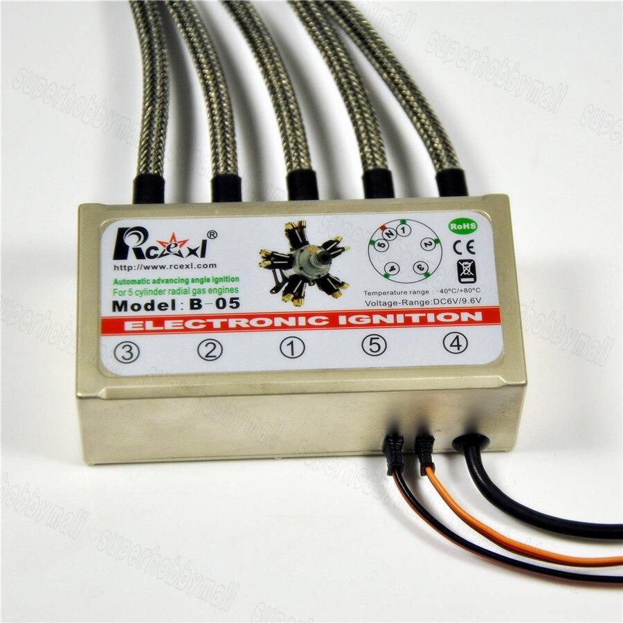 Rcexl 5 Cylinder RADIAL ENGINE Ignition For NGK CM6 10MM 120 Degree With Hall sensor кофе машина delonghi ecam 23 450 b