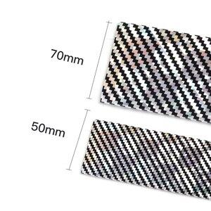 Image 4 - Auto Aufkleber Laser 5D Carbon Faser Gummi Styling Tür Sill Protector Waren Für KIA Audi Mazda Ford Hyundai etc Zubehör