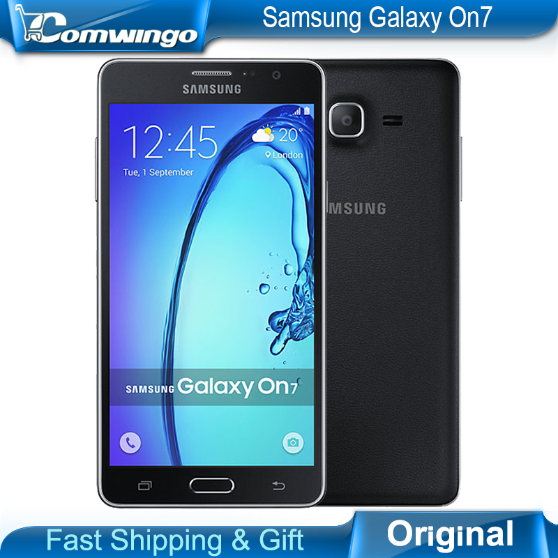 Original New Samsung Galaxy On7 G6000 Mobile Phone 5 5 13MP Quad Core 1280x720 Dual SIM