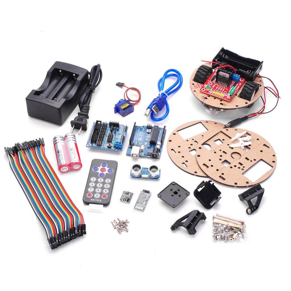 Funduino Little Smart Turtle + Smart Car Learning Kit-in