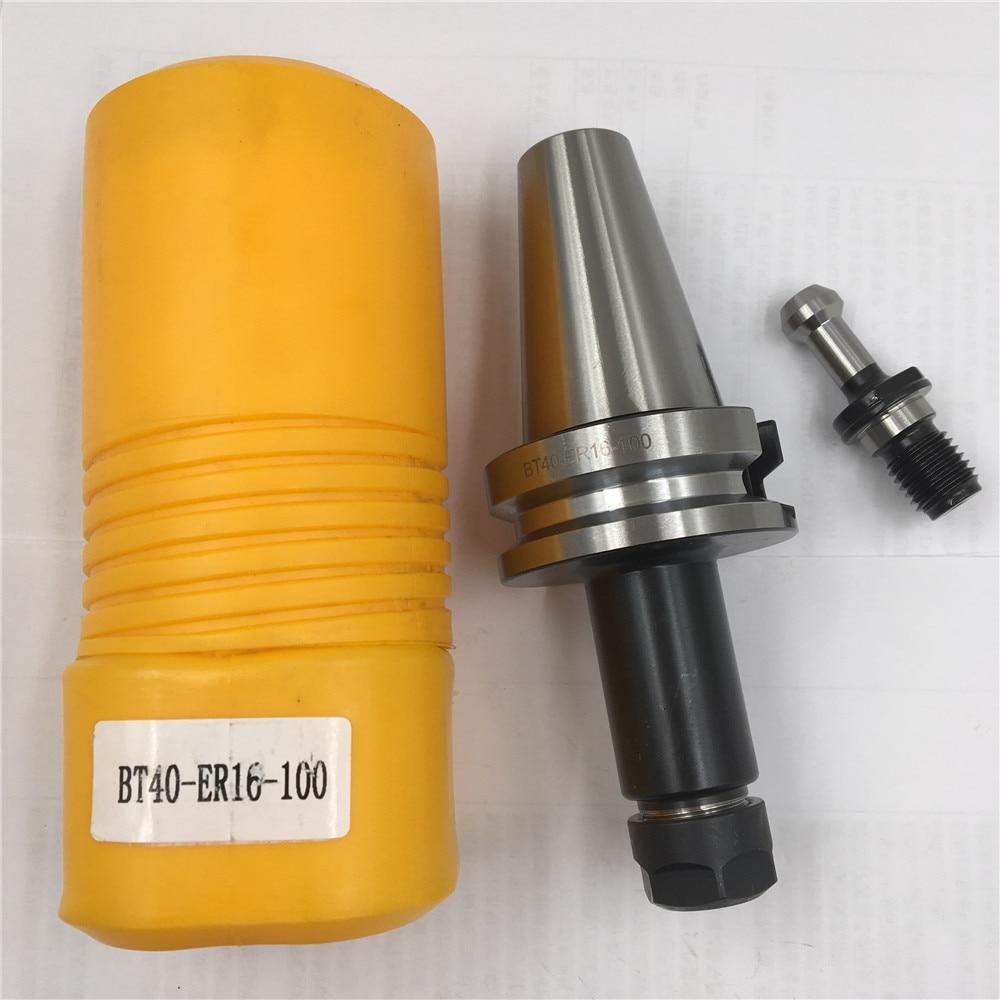 ToolHolder BT40 ER16 Collet Chuck L100mm Tool Holder & Pull Stud for CNC Milling Machine  цены