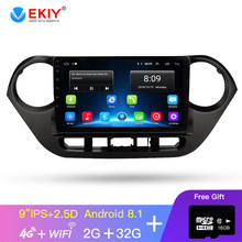 Ekiy 9 ''2.5D Tidak Ada 2 DIN Android Mobil Radio Multimedia Player Audio Video Gps Navigasi untuk Hyundai Grand I10 2013 2014 2015 2016(China)