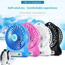 Mini ventilador portátil de carga Usb pequeño ventilador para estudiantes al aire libre de verano enfriador de aire Mini portátil de carga de mano pequeño ventilador
