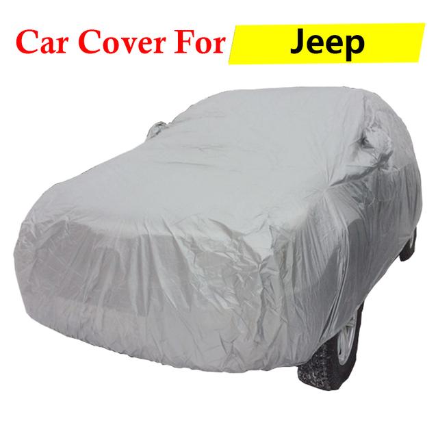 Completo cubierta del coche auto cubierta resistente a los arañazos anti-ultravioleta dom lluvia nieve al aire libre a prueba de polvo para jeep grand cherokee patriot libertad