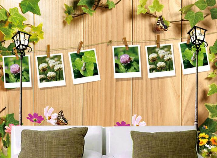 Compare prices on beautiful garden wallpapers online for Wooden wallpaper price