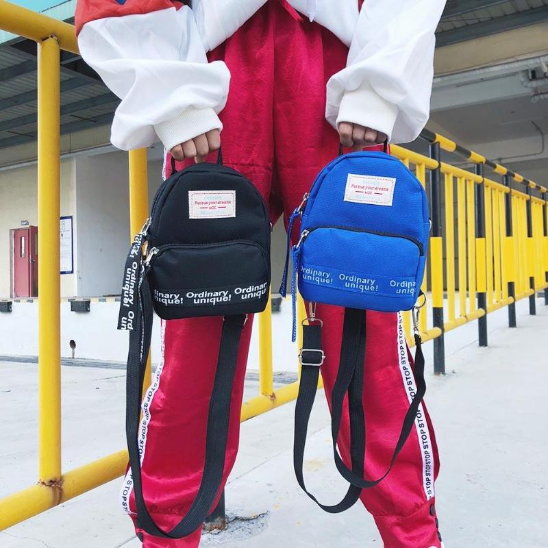 Fashion Letter Print Women Nylon Mini Backpack For Teenage Girls Shoulder Bag Travel Pack Female Casual Crossbody Bags Rucksacks #5