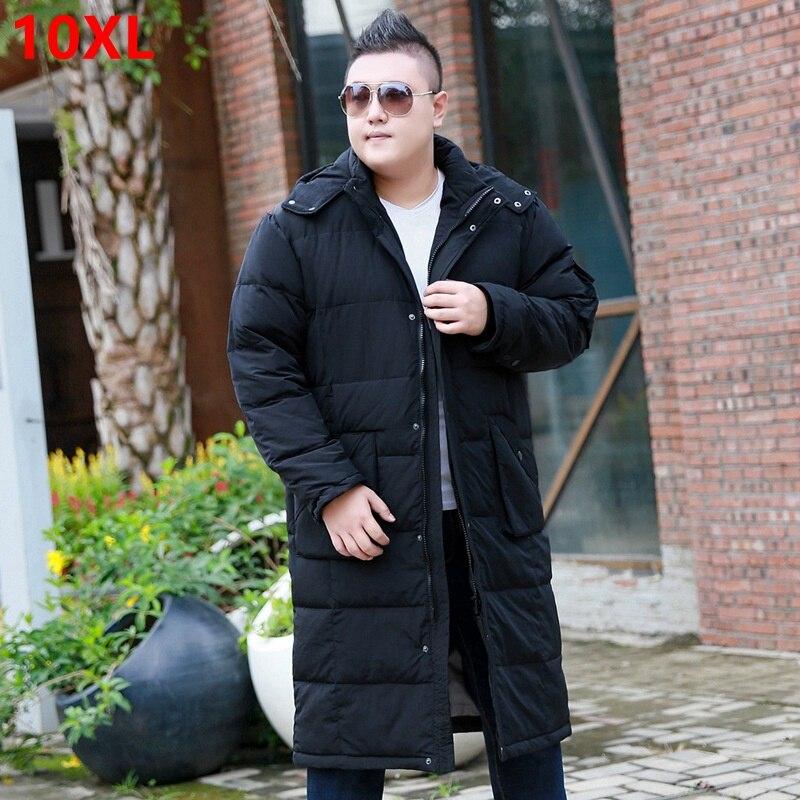 Homme sur le genou doudoune grande section ample modèles grande taille hommes doudoune grande taille hiver 10XL 9XL