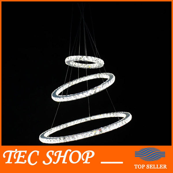 Best Price JH Chandeliers Circular Stylish K9 Crystal Ceiling Lamp Living Room LED Light Unique Ring Design Random Variation best price rectangular crystal chandeliers k9 crystal ceiling lamp lighting fixtures restaurant led lighting e14 free shipping