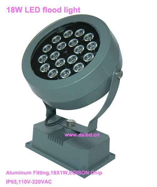 CE,IP65,good quality,high power 18W LED projector light,LED flood light,DS-T06B-18W,110V-250VAC,18X1W,EDISON chip new design good quality high power 18w