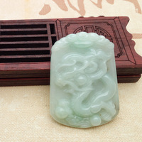 Free Shipping Natural Burma Jade Dragon Style Restoring Ancient Ways Pendant Atmospheric Male Style Pendant To