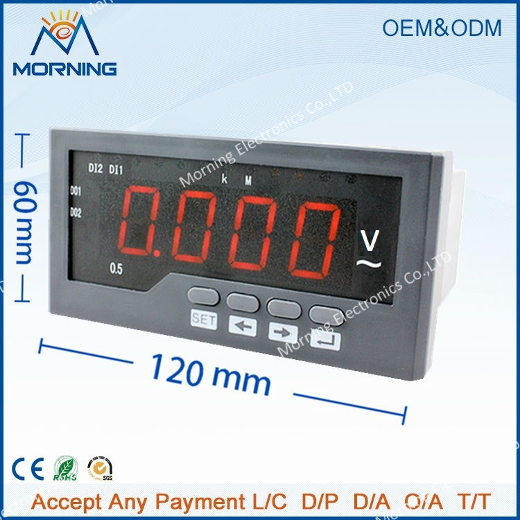 av41 frame size 12060mm led digital display 1 phase high precision homemade voltmeter for network monitor