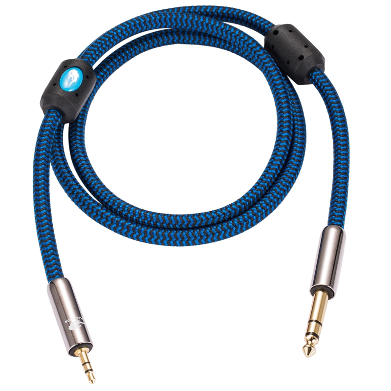 """6.35mm Stereo Straight Jack to  Straigt Jack Cable 1//4/"""" Lead 1m 1.5m 2m  5m"""