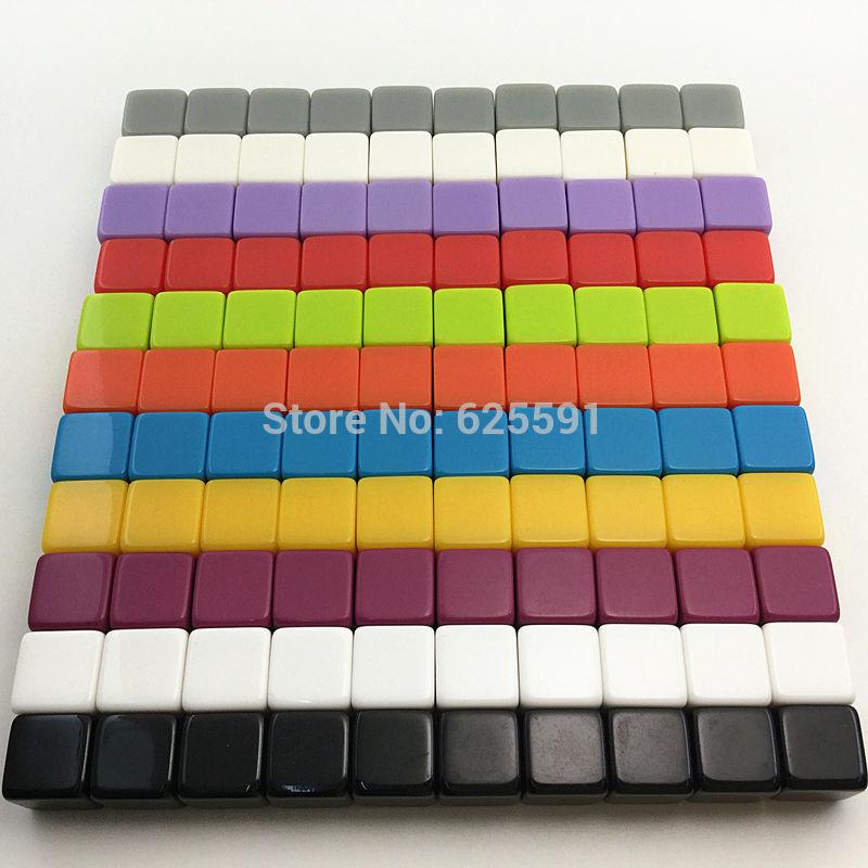 10pcs New 16mm Resin Blank Dice For Custom Engraving Or Printing Logo Family Educational Poker Chips