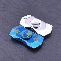 Stress Toys Diamond Polishing Handspinner Finger Gyro EDC Adult Toy Gift Metal Hand Spinner Torqbar Brass
