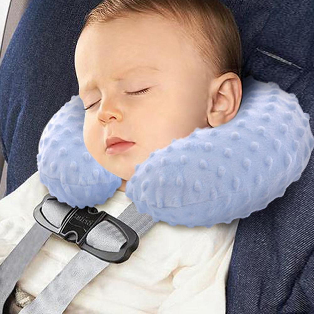 Detachable Baby Flight Travel Neck Pillow Inflated Pillow U Shape Pillow For Children Seat Car Fixed Head Pillow