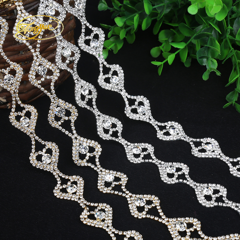 1 Yd Type Love Zirconium Alloy Basic Clothing Adornment Ornament Pruning DIY Sewing Applique Adornment