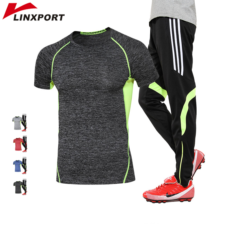 Men Sport Suits Compression Tracksuit Soccer Running Sets Cycling Jogging Clothing Sportswear deporte Gym Wear Men