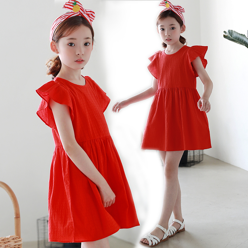 2018 Kids Striped Dresses For Girls Summer Dress Children A-line Casual Dress 4 6 8 10 12 13 14 Years School Clothing Robe Fille luoyamy 2018 girls candy color a line dress baby kids spring summer shoulder less dress children striped patchwork dresses