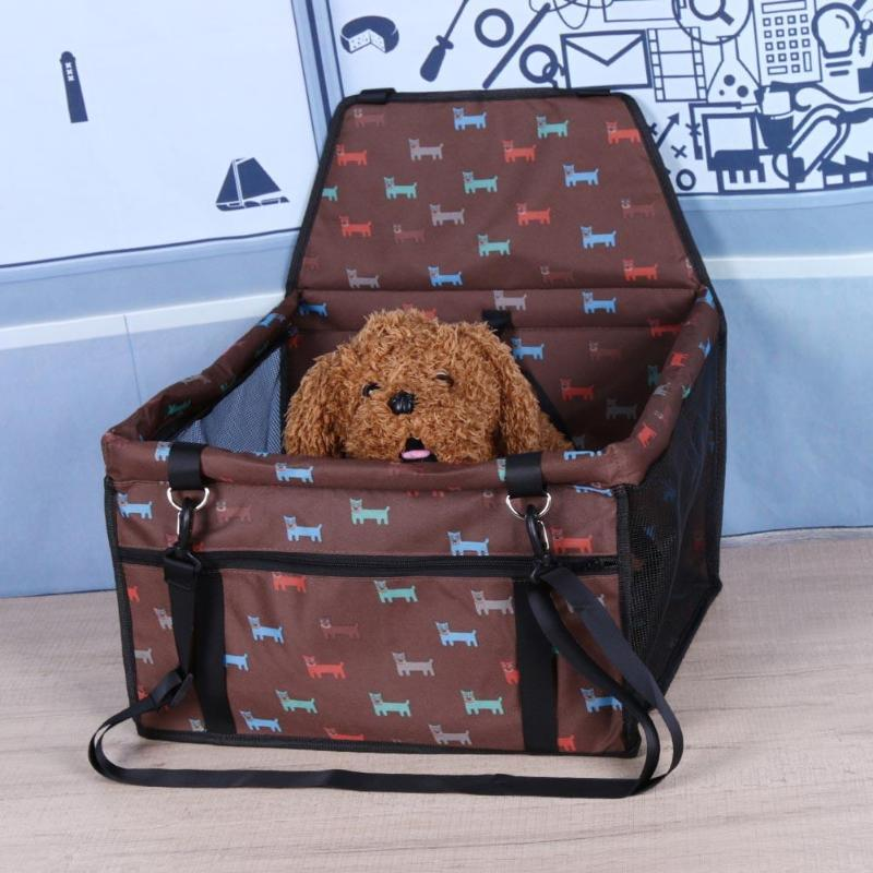Pet Dog Car Seat Waterproof Safe Cat Seat Holder Pad Mat Carriers Bags Travel Folding Seat Booster Carry Cover For Puppy Dog/Cat