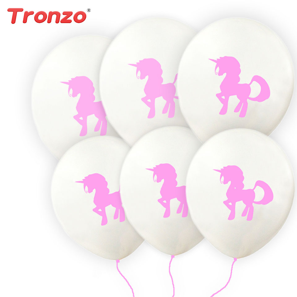 Tronzo 12inch unicorn latex balloons 10pcs lot wedding for Balloon decoration for kids