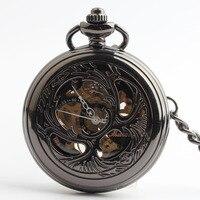 Pocket Watch Unisex Mechanical Hand-winding Watch Xmas Gift #10740