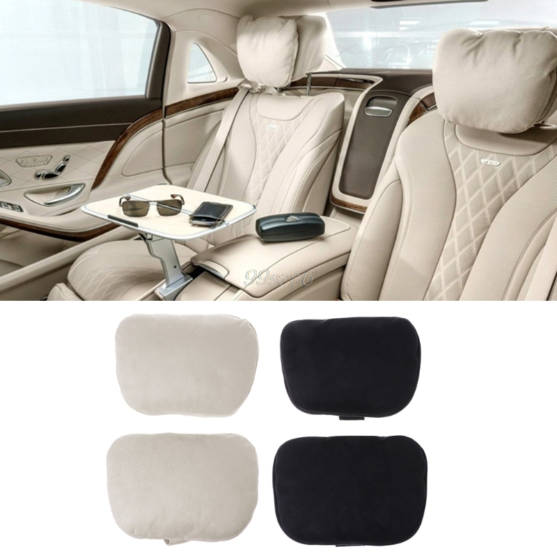2Pcs Real Leather Car Seat Neck Cushion Pillow Headrest Fit For Mercedes-Benz