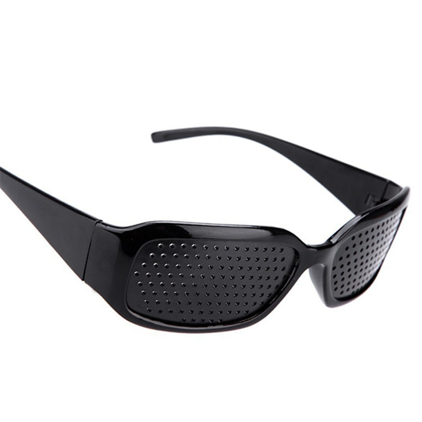 Black Pinhole Sunglasses Anti Fatigue Vision Care Pin Hole