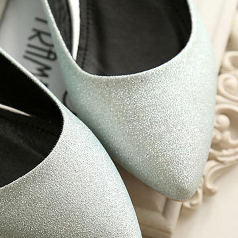 Chaussures Red Peu Argent Pointu 2018 Mode silver Taille Diapositives Appartements La Dames Rose Femme Sandales Rouge Noir Profonde Plus Bout Confortables FHzxq1wFr