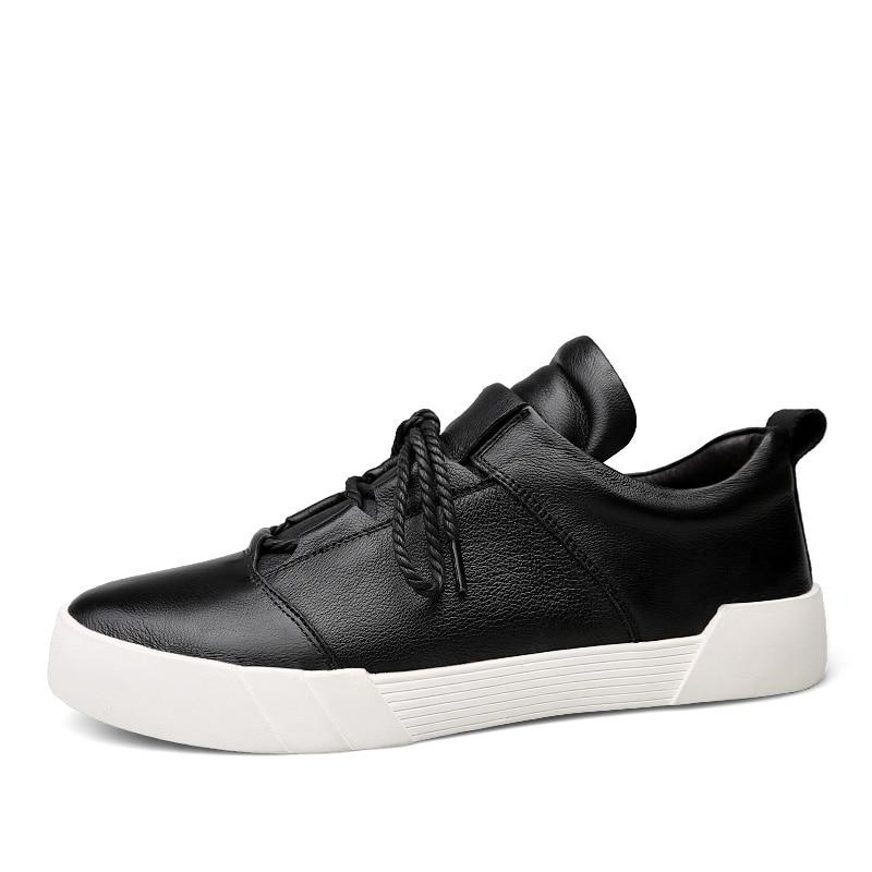 Botas Outono Ao Size Handmade Boots Lace Preto Ankle Homens Sapatos Confortáveis Plus Livre Homens Couro De Genuíno branco Ar Dos Up Dropshipping zgYwqpT4