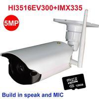 wifi camera wireless security 4MP 5MP ip camera outdoor IR security camera 32 64 128GB SD card build in speaker MIC P2P onvif