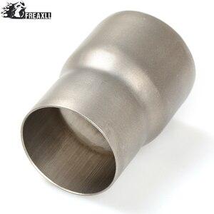 Универсальный модифицированный глушитель для мотоцикла 61-51 мм, адаптер для выхлопной трубы, редуктор, соединительный трубный соединитель д...