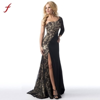 Brand Women Long Dress Formal Wedding Bridesmaid Lace Patchwork Russian Style Print Dress Long Floor Length
