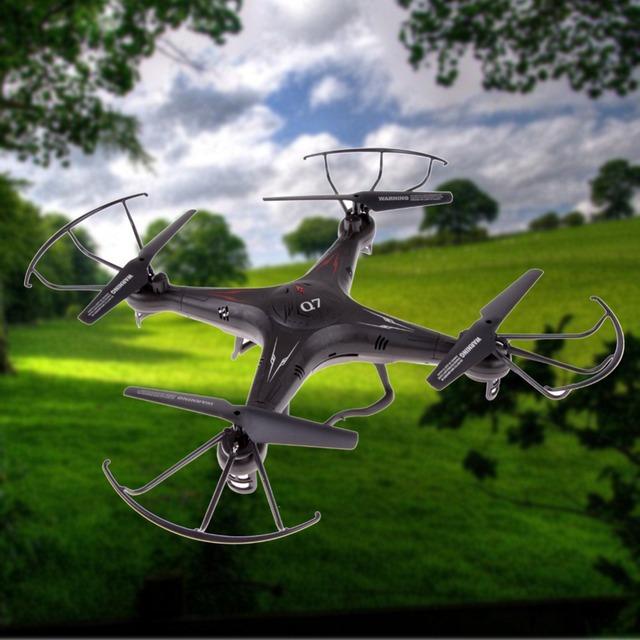 Bs # s fy326 q7 2.4g 6-axis gyro ufo rc quad-helicóptero kvadrokopter 4-ch helicóptero de controle remoto com diodo emissor de luz