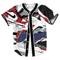 Jersey  with Single Breasted Hip Hop Men's Clothing Streetwear baseball shirt funny Casual Summer Style tees