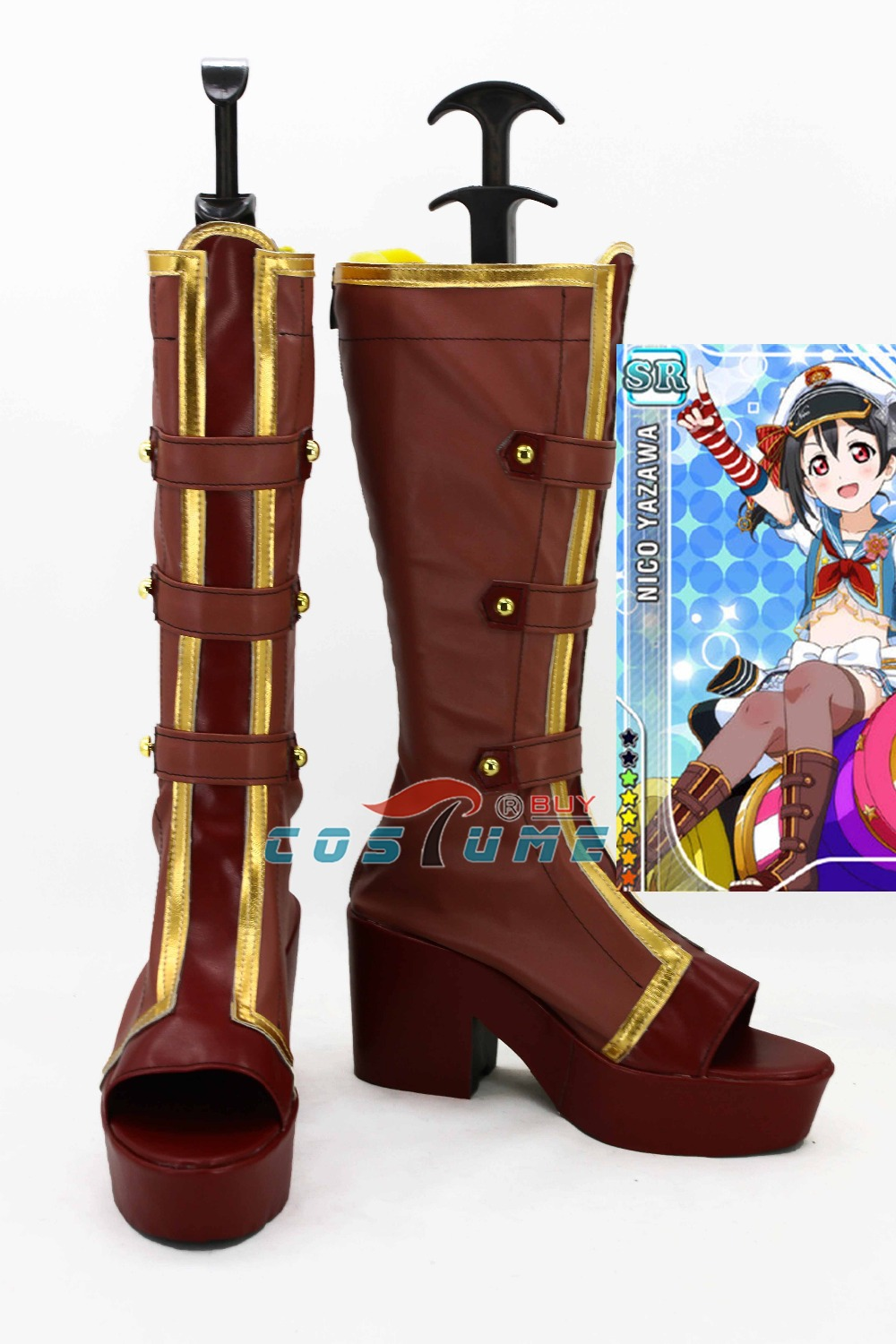 LoveLive! Love Live Nozomi Tojo Navy Halloween Sailor Cosplay Boots Costume Shoes For Women