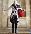 Assassins Creed 2 Ezio Traje Hombres Cosplay Mascarada de Halloween Costume Set Completo Personalizada con guantes y cubrepiernas