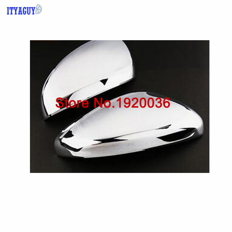 Car styling ABS Chrome Rear View Mirror Decoration Trim for Peugeot 408 2014 2015 Side Mirror